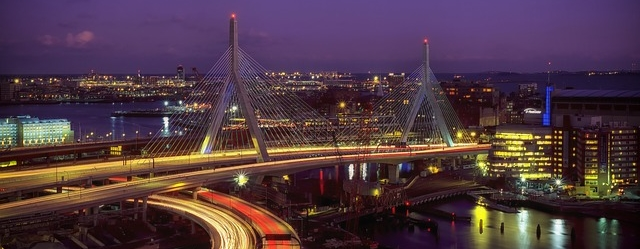 Boston at night Massachusetts grid improvements