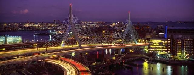 Boston at night Massachusetts grid improvements