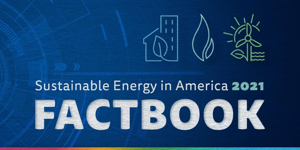 Sustainable Energy in America 2021 Factbook Cover